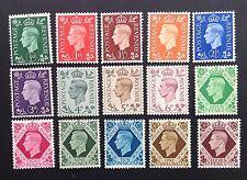 GB 1937 GV1 Definitives Stamps Set~Dark Colours~(15)~Mounted Mint ~UK Seller