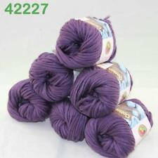AIPYARN Sale 6Ballsx50g Soft Cotton Chunky Super Bulky Hand Knit Crochet Yarn 27