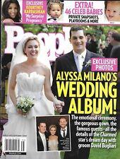 People magazine Alyssa Milano wedding Celebrity babies Kourtney Kardashian