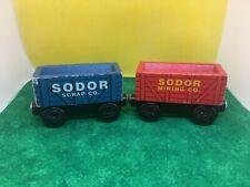 Sodor Scrap & Sodor Mining cars - THOMAS & FRIENDS TRAIN ENGINE WOODEN RAILWAY