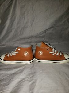 CONVERSE Chuck Taylor All-Star Brown Sz 10 US Youth Leather High-Top Sneakers