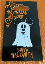 2008 Disney New Metal Pin MICKEY GHOST celebrate HALLOWEEN on Original Card WDW