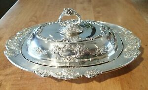 Reed & Barton Sterling Silver Covered Serving Dish, Bowl, Francis I, 571A, Spoon