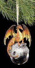 Draghi Natale - Hyperion Arancione - Decorazione Natalizia Fantasy Gothic