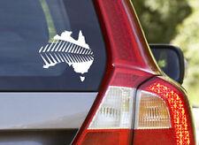 New Zealand Aussie Australia Map Silver Fern Car Sticker Decal Boat UTE Truck