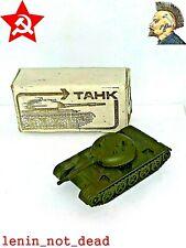 Vintage USSR Made military toy Tank T-54 metal tank original box