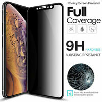 For iPhone 11 Pro X XR XS Max 6 7 8 Plus Tempered Glass Privacy Screen Protector