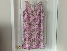 Columbia Women's Pink Tropical Floral Print Fit & Flare Dress Size Medium