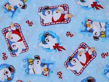 FAT QUARTER FABRIC  CHRISTMAS  FROSTY THE SNOWMAN SANTA TOSS WINTER CRANSTON FQ