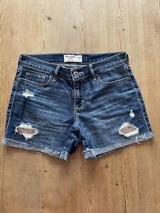 Abercrombie Kids Girls Denim Sequin Shorts - Age 15/16