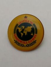 SEATTLE '90 GOODWILL GAMES Enamel Collector Pin Quarter Size