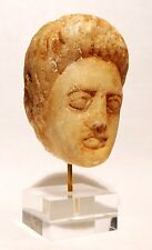 TETE ROMAINE EN MARBRE DE JEUNE FILLE 100/300 AD - ROMAN MARBLE HEAD OF A WOMAN