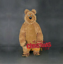 2019 Long Fur Masha Bear Inflatable Mascot Costume Xmas 2.6m Game Dress Animals