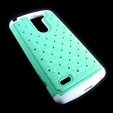 CoverON® for LG G3 Stylus D690 Case - Hybrid Diamond Bling Hard Teal Phone Cover
