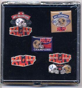 Saints Super Bowl XLIV Champs 5 Pin Set Five 44 New Orleans Champions Aminco