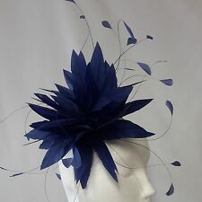 Light Navy Fascinator for Weddings, Races and Proms