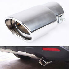 For ID2.5''/60mm Car Exhaust Pipe Muffler Tip Tail Stainless Steel Chrome Silver