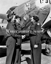 USAAF WASP WW2 Beech C-45 Expeditor Miss Fifinella Pilots 8x10 Nose Art Photo