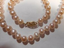 "14K IMPERIAL DELTAH Cultured NATURAL Pink  Pearl 18"" Necklace Choker MINT Unused"
