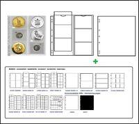 1 x Leuchtturm 330456 MÜNZHÜLLEN NH6 NUMIS 55 + weiße ZWL Für Münzen bis 55 mm