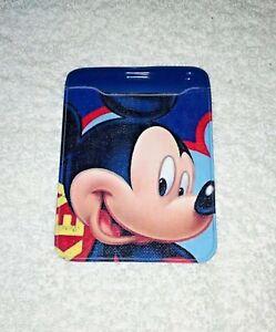 DISNEY MICKEY MOUSE Plastic ID CARD BADGE PASS HOLDER