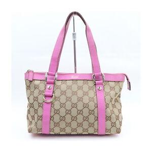 Gucci Hand Bag  Browns Canvas 2401283