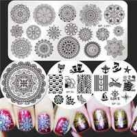 BORN PRETTY Nail Art Stamping Image Plates Floral Owl Pattern Templates DIY