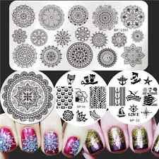 Nail Art Stamping Image Plates Floral Owl Design Templates Decor Born Pretty