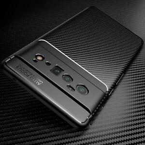 For Google Pixel 6 / 6 Pro Slim Carbon Fiber Shockproof TPU Rubber Back Case