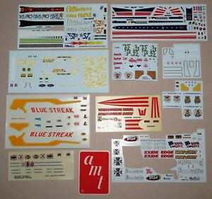 Drag Racing Model Kit Decal Sheets Set #2