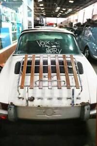 Porsche 911 Air cooled Classic Vintage Wood luggage back decklid Rack