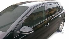 Wind deflectors 4pc set TINTED HEKO for VW GOLF 6 mk6  5 door 2008-2012