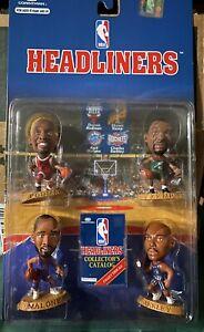NEW 1996 Corinthian NBA Headliners 4 Pack Rodman Kemp Malone &  Barkley MOC