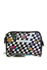 Nicole Miller Crossword Puzzle Cosmetic Pouch Black