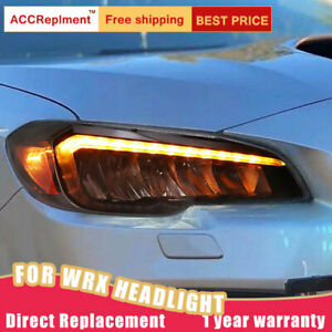 For Subaru WRX Headlights assembly Full LED Lens Projector LED DRL 2015-2020