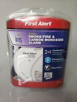 First Alert Wireless Smoke and Fire Alarm Detector IRIS NEW