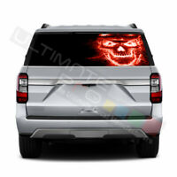 Skulls Designs Rear Window See Thru Stickers Perforated for Ford Expedition 2020