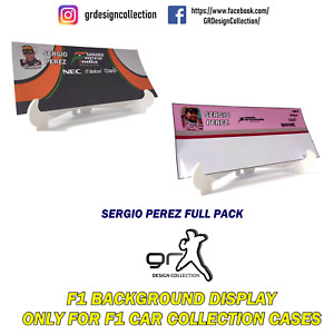 F1 Car Collection INLAY DISPLAY Showcase SERGIO PEREZ PACK / 1:43