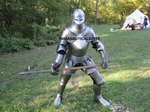 Knight Medieval Wearable Full Suit of Armor LARP Costume Replica