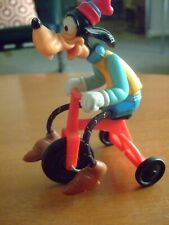 Vintage Walt Disney Productions 1977 Pedaling Goofy On Trike Plastic Toy