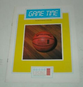 1985 USBL UNITED STATES BASKETBALL LEAGUE GAME TIME PREMIERE ISSUE MAGAZINE # 1
