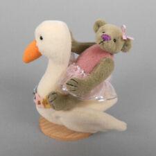 Deb Canham Swanning Along Deb's Little Gems Miniature Teddy Bear on Swan