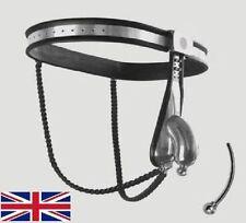 COMPLETO di Sesso Maschile Castità Cintura Dispositivo Acciaio Inox Massiccio Gabbia, Split Wire, 65-110cms