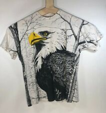 VTG 90s Carribean Dream All Over Mega Print Eagle Shirt XL White Harley