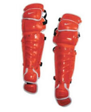 NIKE PRO 16 Gold Precision Catcher's Safey Gear  ORANGE LEG GUARDS