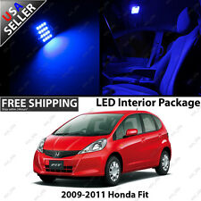 Honda Fit 4 Door Hatchback Blue LED Interior Light Bulb Package Kit