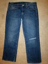 Lucky Sweet & Low Jean Crop Womens Capri Size 6 x 24 destructed Denim Jeans