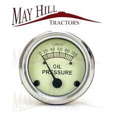 Massey Ferguson TE20 TEA TED TEF Tractor Oil Pressure Gauge 0-100lbs