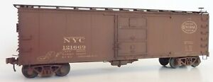 NYC New York Central Westerfield 2901 HO Steel Boxcar Assembled Weathered 121669