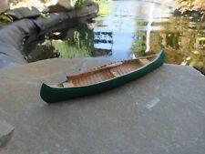 Premium Custom Canoe w Oars Green Miniature 1/24 Scale G Scl Diorama Accessory